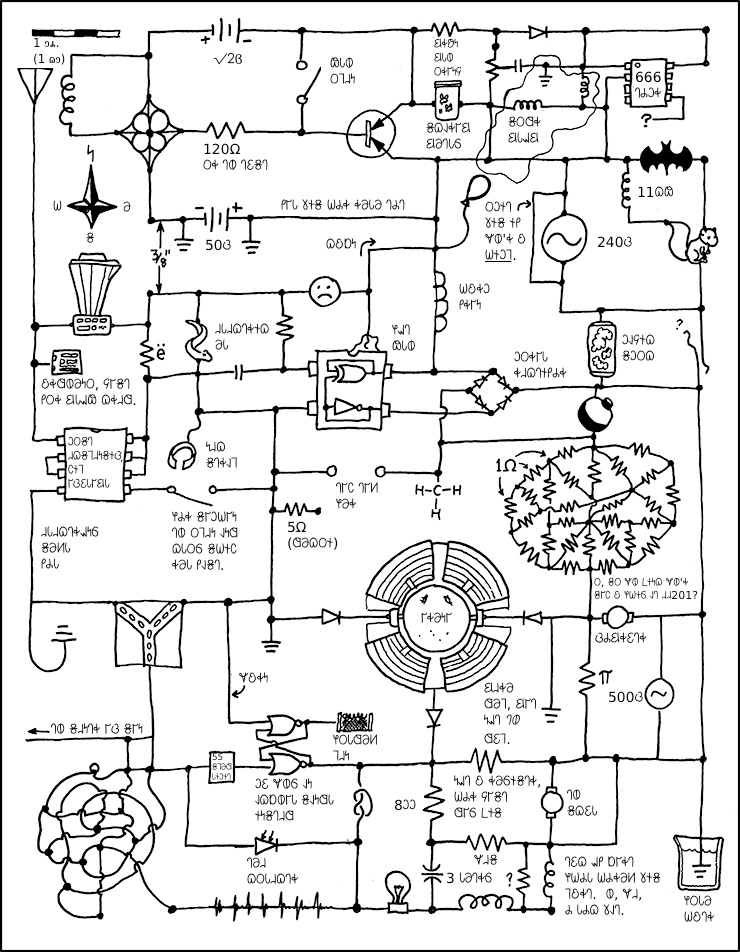 xkcd circuit diagram  zen diagram, wiring diagram